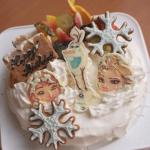 アナ雪ケーキ、再び