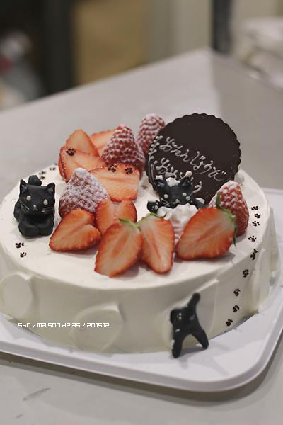 プラチョコで黒猫なケーキ