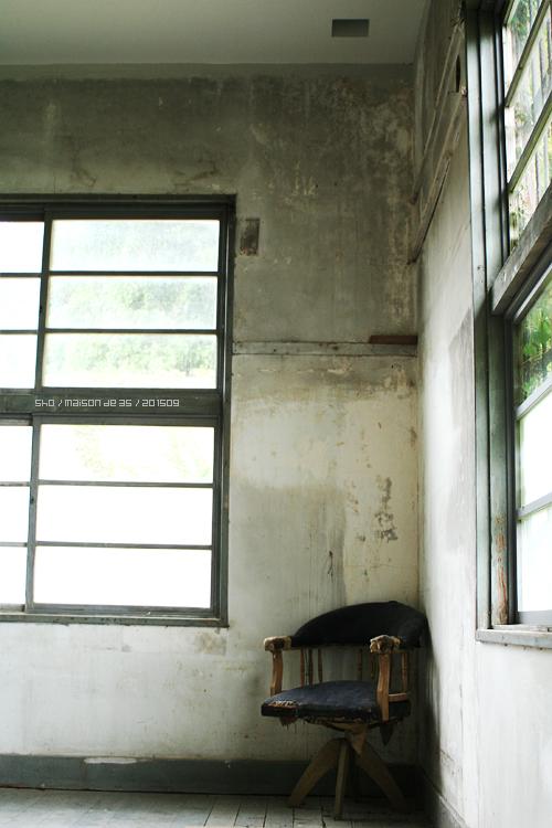 佐渡 相川拘置所跡の椅子