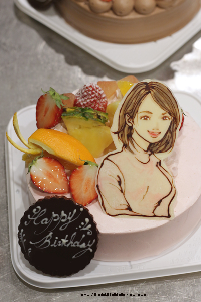 似顔絵 イラストケーキ バースデーケーキ 佐渡