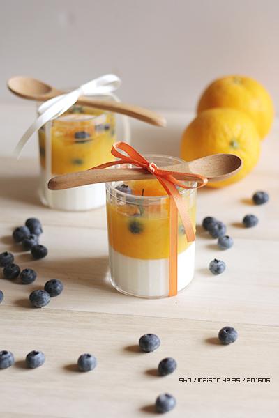 オレンジ 新生姜 プリン ジンジャーミルクプリン