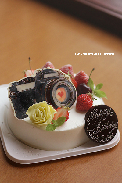 カメラ女子 イラストデコ Nikon オーダーメイドケーキ 佐渡