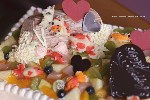 金魚 ウェディングケーキ プラチョコ