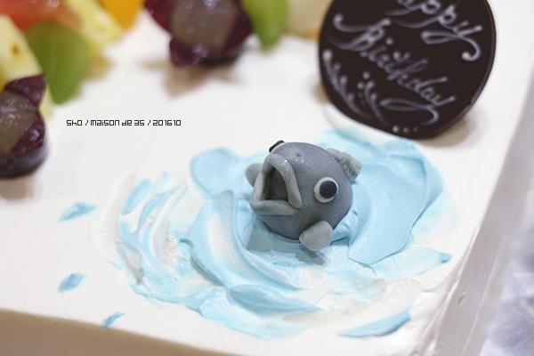 デザインケーキ 海 魚 プラチョコ オーダーメイド 佐渡