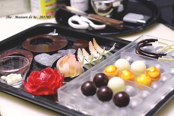 チョコレート細工のパーツを作る