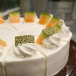 夏はメロンでショートケーキ