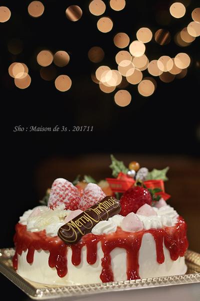 いちごのクリスマスドリップケーキ