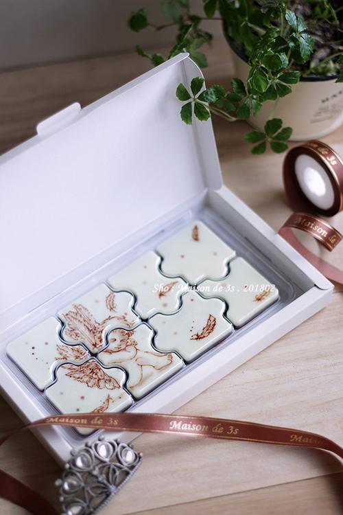 天使のパズル型チョコレート